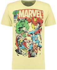Blue Inc Mens T-Shirt Yellow Official Marvel Breakout Tee Crew Neck Printed Top