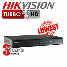HIKVISION 4 8 or 16ch Turbo DVR CCTV 1080p HD-TVI Video Recorder - UK VERSION