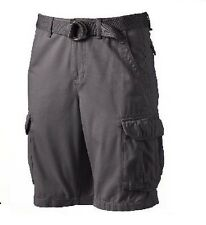 Urban Pipeline Mens Cargo Shorts Belted twill cotton solid size 29 32 44 NEW