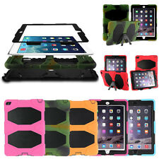 Soft Silicone Rubber Skin Cover For Apple iPad 2 3 4 5 6 Air Mini Stand Case