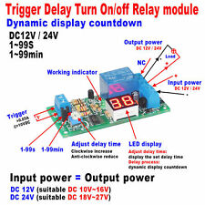DC 12V/24V LED Display Delay Timing Timer Relay Switch Delay Turn ON/OFF Module