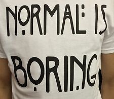 NORMAL IS BORING T SHIRT TUMBLR MENS NORMAL PEOPLE SCARE ME HORROR STORY
