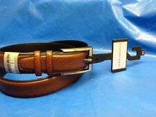 GEOFFREY BEENE men 34 leather BELT soft touch BROWN grained LEATHER NEW with TAG