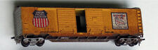 HO Athearn Union Pacific UP Auto boxcar weathered, all stirrups, weight painted