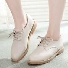 Retro Mary Janes Womens Oxford Wedge Round Toe Sweet Casual Flat College Shoes