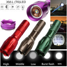 UKing Zoomable Focus 5000lm CREE XML-T6 LED Tactical Flashlight Torch Lamp Light