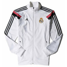 Adidas Real Madrid mens white polyester anthem track jacket top 2014-15 M36791