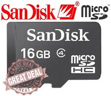 SanDisk 16GB Class 4 MicroSD MicroSDHC SD SDHC TF Flash Memory Card 16 GB G LOT