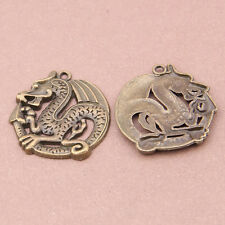 35*31mm 20Pcs Wolf Charms Bronze Silver Animal Charms for Jewelry Findings