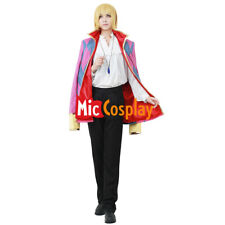 Anime Howl's Moving Castle Howl Cosplay Men Costume including Jewelry Necklace