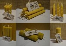 Hand Rolled Handmade Pure Beeswax Candles from Beeswax Sheets / Gift