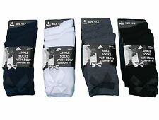 6 PAIRS GIRLS KIDS BOW COTTON FASHION ANKLE HIGH LADIES WORK SCHOOL SOCKS