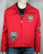 Ed Hardy Mens RED Death Before Dishonor Jacket S-XXL