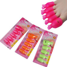 5Pcs Fashion Remover Reusable Toenail Soak Off Clip Caps Gel Nail Art Polish NEW