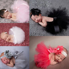 Lovely Newborn Baby Toddler Girls Hairband Tutu Skirt Photo Prop Costume Outfit