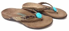 Orthaheel Vionic Felipa Thong Sandals arch support Floral Bead Embellishment