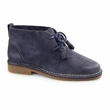 Hush Puppies CYRA CATELYN Ladies Womens Suede Comfort Ankle Desert Boots Navy