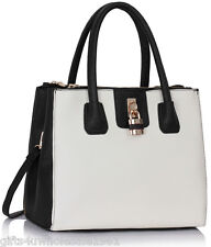 NEW Lady Designer Celebrity Faux Leather Tote Bag School+Free River Island Gift