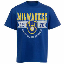 Milwaukee Brewers Youth Royal Blue Established Banner T-Shirt
