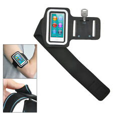 Black Sports Gym Jogging Black Armband Case Cover for Apple iPod Nano 7 7th  HP