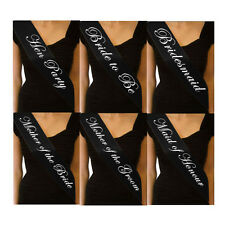 New BLACK HEN NIGHT SASH BRIDE ACCESSORIES PARTY SASHES GIRLS NIGHT OUT