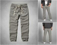 NWT Abercrombie & Fitch Mens Cinched Sweatpants Heather Gray XL