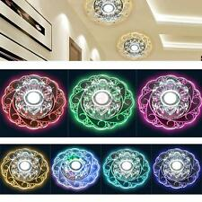 3W Round Crystal LED Ceiling Light Fixture Pendant Lamp Lighting Chandelier PICK