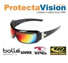 Eyres Daredevil Safety Glasses Flash Silver / Red Mirror Lens