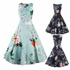 Womens Retro Rockabilly 60s Vintage Party Floral Evening Prom Swing Pinup Dress