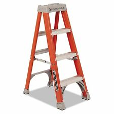 300 Lbs Duty Rating Fiberglass Ladder Stepladder Heavy Duty Safe Strong Work New