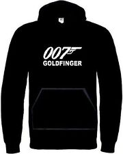 Sweat Capuche James Bond Goldfinger. Motif Blanc