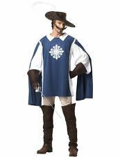 Mens Musketeer Medieval Knight French Cavalier Fancy Dress Costume