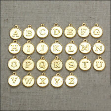 New A-Z Charms 15x12MM Gold Tone alphabet letter charms tiny pendant DIY Jewelry