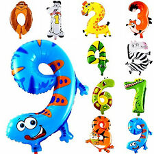 Animal Number Foil Inflatable Balloons Wedding Birthday Parties Decoration