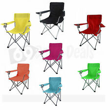 Portable Folding Chair Outdoor Beach Camping Picnic Wood Deluxe BBQ Fishing NEW