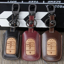 Leather  key fob cover case for Honda 2015 2016 Pilot Accord Civic Fit Freed