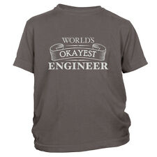 Kid's Worlds Okayest Engineer T-Shirt Funny Mechanical Electrical Tee FREE S&H!
