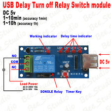 5V DC Time Delay Relay Delay Turn off Switch Timer Countdown Relay Module w/ USB