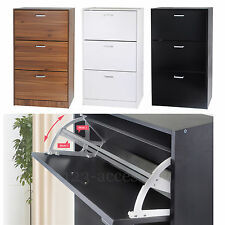 3 Drawer Shoe Storage Cabinet Cupboard Wooden Furniture Footwear Stand Rack Unit
