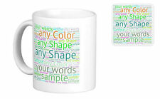 Personalised Mug Coffe Cup, Word Art, any shape, bulk promotional,your own words