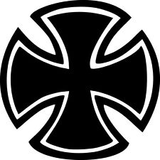 Round Maltese Cross Vinyl Sticker Decal Knights Iron Templar Choose Size & Color