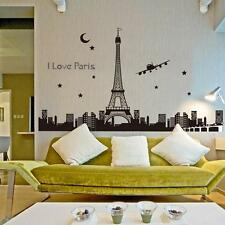 Paris Eiffel Tower Night Fluorescent Wall Sticker Mural Vinyl Decal WL