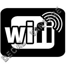 Wifi Spot Radiowaves Logo Vinyl Sticker Decal - Choose Size & Color