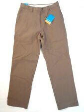 Columbia Sportswear Co. Khaki ROC Pant Flat Front Casual Cotton Pants Mens NWT
