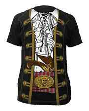 Pirate T-Shirt Costume Captain Hook Morgan Peter Pan Buccaneer Jack Sparrow