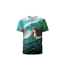 Surf's Up Jesus T-Shirt Lord Christ Surfing Funny JC Surf Savior Mens Adult New