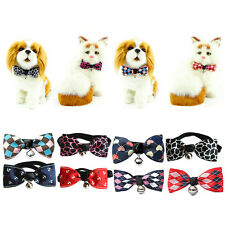 Cute Adjustable Puppy Kitten Dog Cat Pet Bow Tie With Bell Necktie Collar