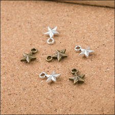 Cute Wholesale 100PCS Lovely Mini Star charm pendant DIY Jewelry Findings 11x8mm
