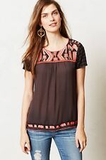 NIP Anthropologie Embroidered Nerine Top by HD in Paris Size 2 $128