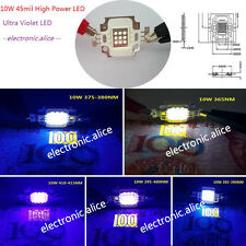 High Power LED UV Light Chip 365nm 385nm 395nm 410nm Ultra Violet 10W 45mil